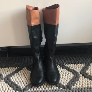 Ralph Lauren two tone boots